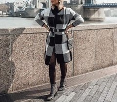 casaco tricot black and white london