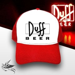 BONÉ DUFF BEER RED THE SIMPSONS - loja online
