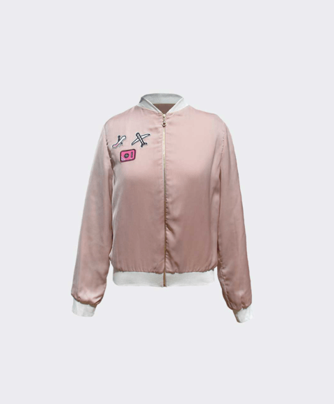 Bomber Jacket com Patches