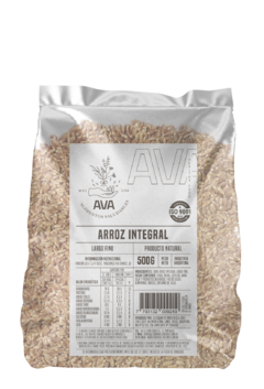 Arroz Integral Largo Fino 500 grs  - AVA