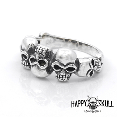 ANILLO CALAVERAS UP DOWN PLATA 925 en internet