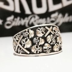 ANILLO SKULL CATACUMBAS. PLATA 925