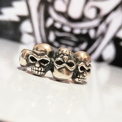 ANILLO CALAVERAS UP DOWN PLATA 925