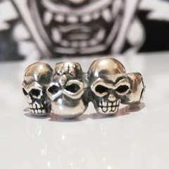 ANILLO CALAVERAS UP DOWN PLATA 925 - comprar online