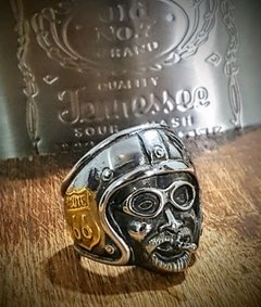 ANILLO ROUTE 66 BIKER MOTO ROCK ACERO en internet