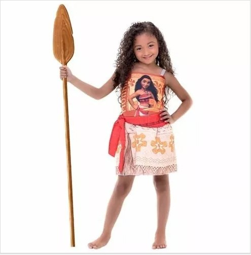 Fantasia Moana Infantil Personagem Disney