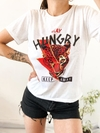 REMERA STAY HUNGRY BLANCA