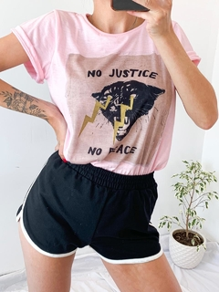 REMERA NO JUSTICE TIGER ROSA