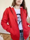 CAMPERA BAGEL DOBLE FRIZA ROJA