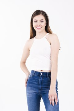 TOP ZARA BLANCO