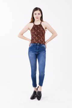 TOP ZARA LEOPARD MARRON