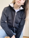 CAMPERA BAGEL DOBLE FRIZA NEGRA
