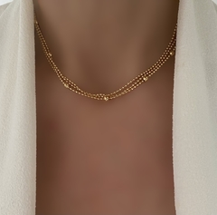 CHOKER 3 LAYERS GOLD