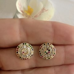 ARETES PIZZA COLORS GOLD
