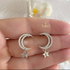 ARETES MOON & STAR SILVER