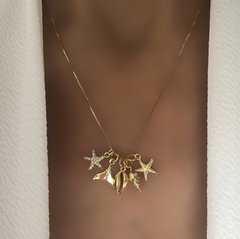 CADENA SEA CHARMS GOLD