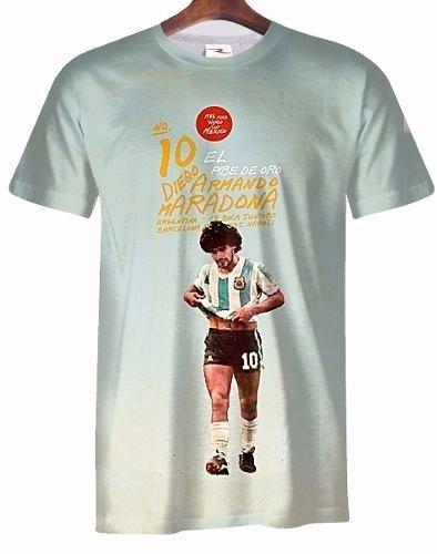 Remera Diego Armando Maradona Retro Vintage Ranwey Fr004 1ccfb197e5c90