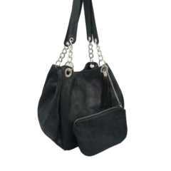 Cartera Chains - METAL NEGRO