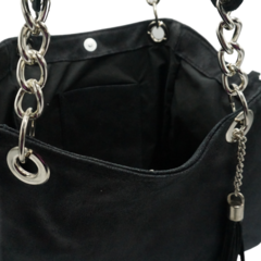 Cartera Chains - METAL NEGRO en internet