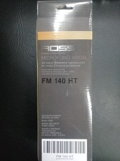 Ross Fm-140-ht Microfono Vocal De Mano Con Cable