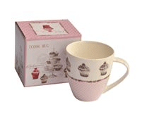 TAZA MUG PORCELANA DELICIOUS CAKE BORDE PUNTITOS 500CC en internet