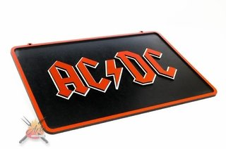 ACDC - Placa Decorativa