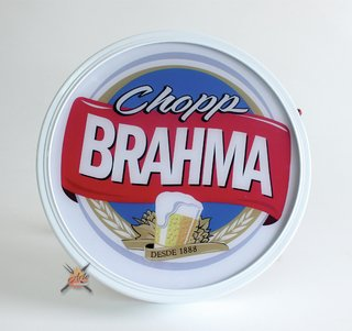 Placa luminosa para área de churrasco Brahma Blue