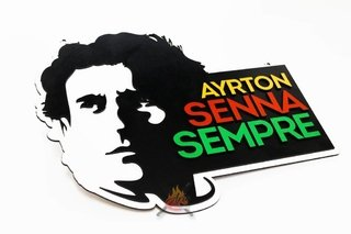 Ayrton Senna - Placa Decorativa