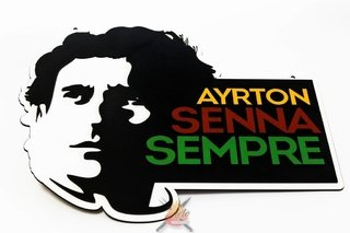 Ayrton Senna - Placa Decorativa na internet