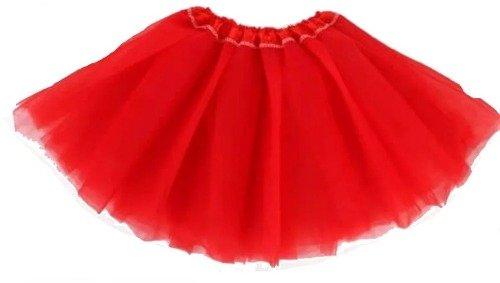 7e9a58a66f Saia De Tule Infantil Vermelha Minnie Joaninha Aniversário