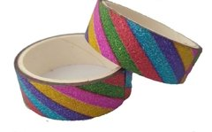 10 Fita Washi Tape Glitter Colorido 1,5 Cm X 2,7 M Decor na internet