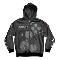 Campera Joystick Sony Playstations con bolsillo y capucha