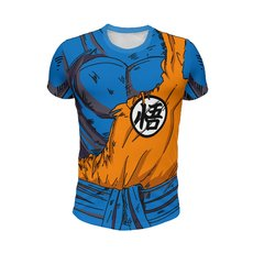 Remera Traje Kimono Goku Roto Dragon Ball Z  Full Print