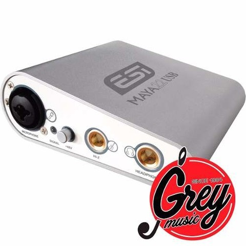 Esi Pro Maya 22usb 2in 1xlr +48v+1 Plug /2 Out Plug 24 Bits