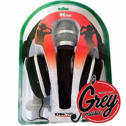 Kit Kohlt Kmh 7pk Microfono + Auricular + Cable! Grey Music