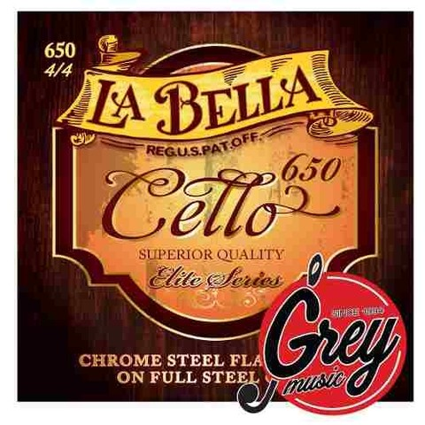 Encordado Para Cello 4/4 La Bella Rc650 - Grey Music