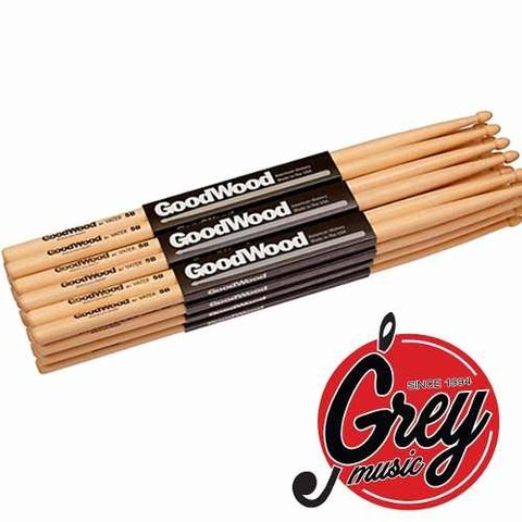 Palillos Goodwood 5b Punta De Madera- Grey Music