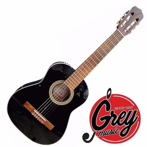 Guitarra Criolla Fonseca 15 Negra 3/4 Portatil Grey Music -