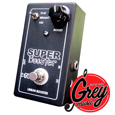 Pedal MBS Super Booster Tres modos: Fat, Flat y Bright