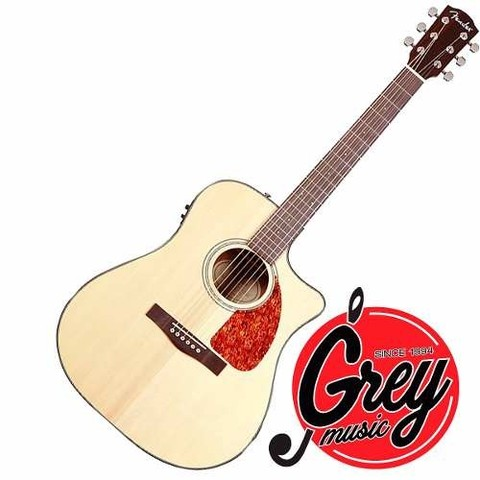 Guitarra Acustica Fender Cd280sce Con Eq. Natural Grey Music