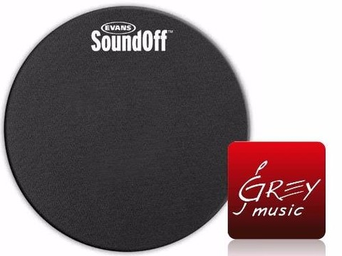 Evans Soundoff 13  Tom Practice Mute So13 - Grey Music -