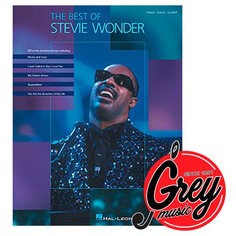 Libro Hal Leonard HL00306420 The best of Stevie Wonder Piano Vocal Guitar