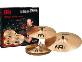 Set Platillos P/baterìa Meinl Mcs Hi Hat14 Crash16 Ride20 en internet