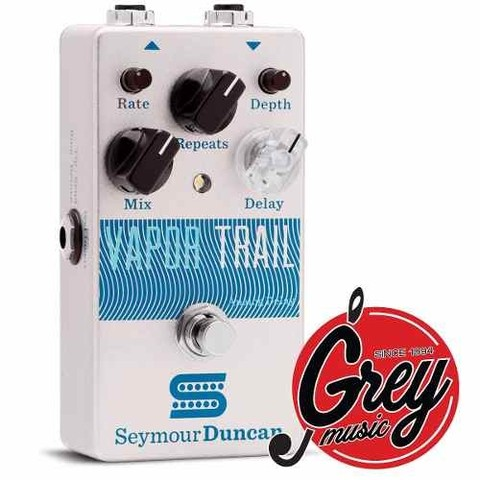 Seymour Duncan Vapor Trail Analog Delay Pedal -grey Music -