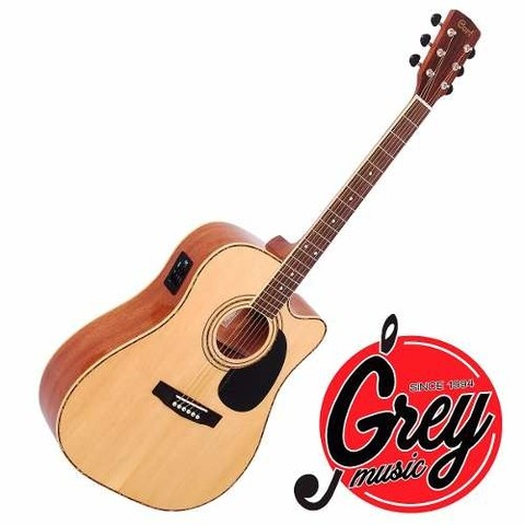 Guitarra  Acústica Cort Con Eq Ad880ce-ns - Grey Music -
