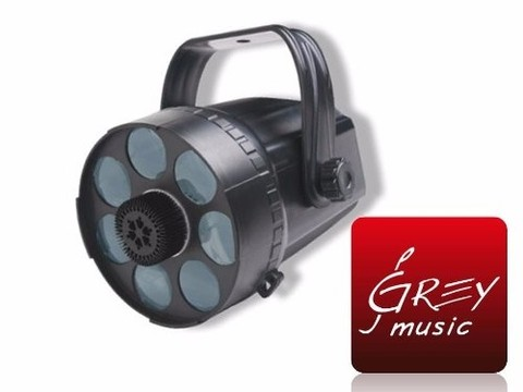 Efecto Swift 7 Rgb 3w Moonflower Luces Led - Grey Music -