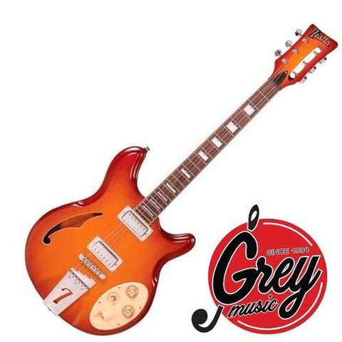 Guitarra Electrica Italia Guitar Mod Rimini 6 - Grey Music -