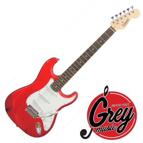 Guitarra Electrica Leonard Strato Color Roja Grey Music