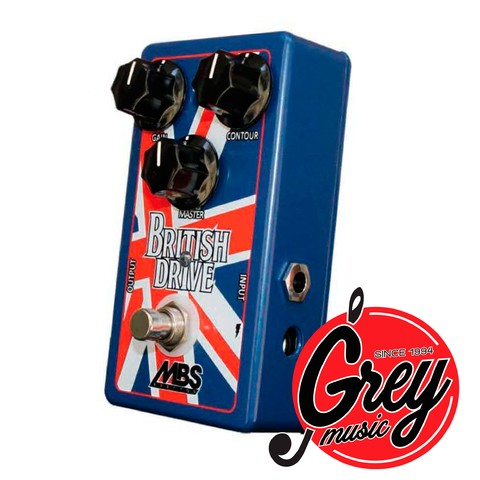 Pedal MBS British Drive Distorsion emulador tipo Vox o Marshall
