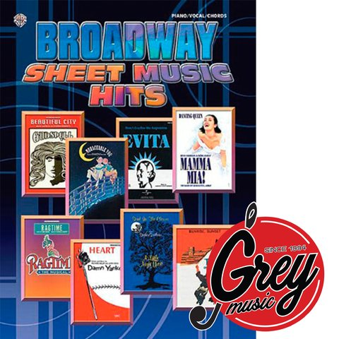 Libro Broadway Sheet Music Hits for Piano/Vocal/Chords